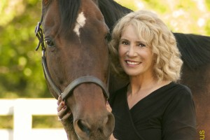 JoAnneNormile with Scarlett, her Secretariat granddaughter