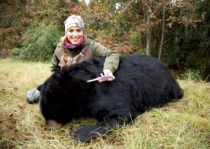 Shockey with Killed bear